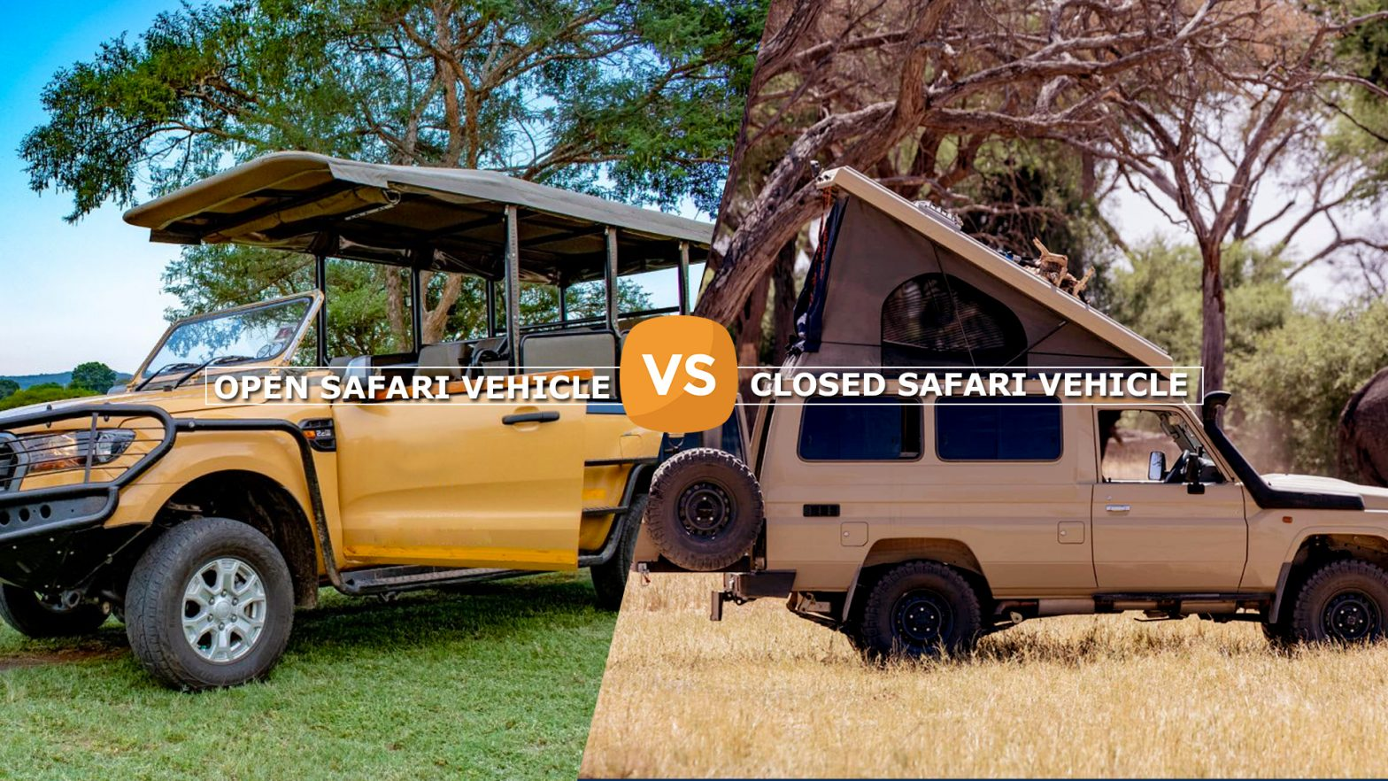 open safari vehicle vs closed safari vehicle