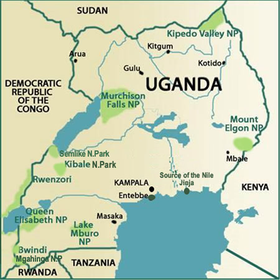 Uganda Safari Map